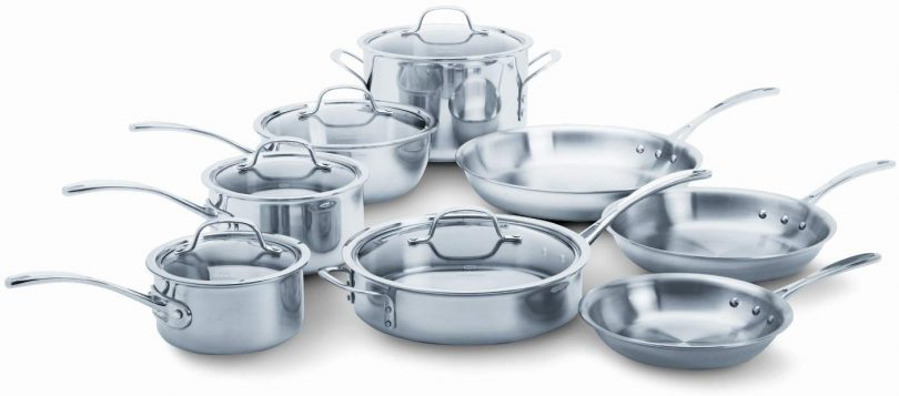 13-Piece Calphalon Tri-Ply Stainless Steel Cookware Set