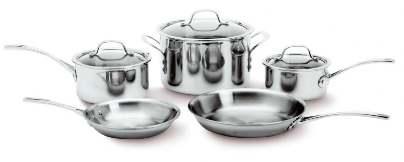 8-Piece Calphalon Tri-Ply Stainless Steel Cookware Set