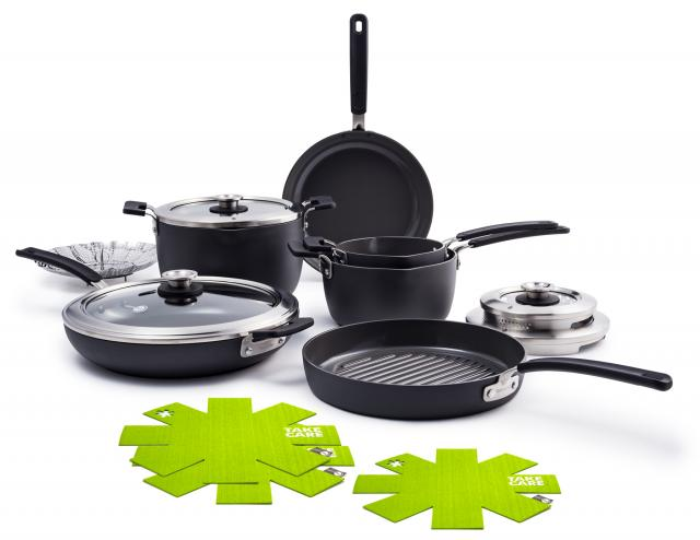 Levels Hard Anodized Stackable Ceramic Nonstick Cookware