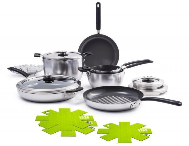 Levels Stainless Steel Stackable Ceramic Nonstick Cookware
