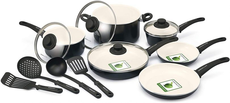 Soft-Grip Ceramic Nonstick Cookware