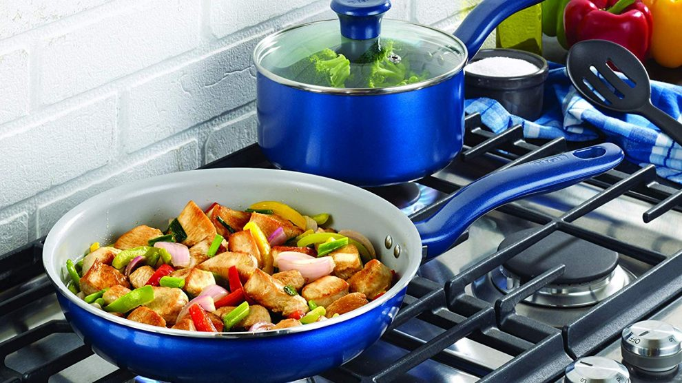 T-Fal Initiatives Ceramic Cookware Set