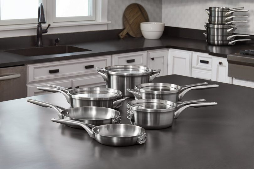 Best for Small Kitchens – Calphalon Premier Space Saving Stainless Steel