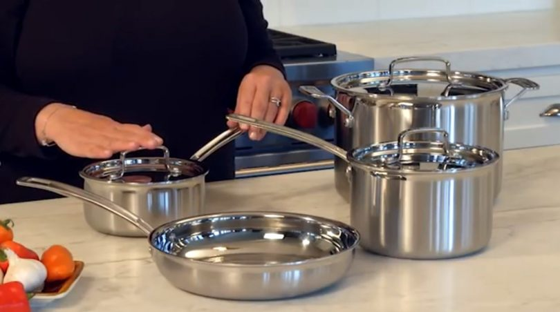 Best Overall: Cuisinart MultiClad Pro Stainless Steel Cookware Set